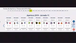 Pronósticos de la jornada 11 del apertura 2019 de la liga mx