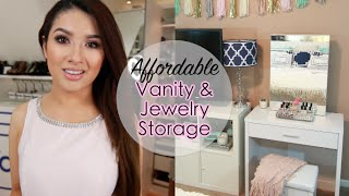 Awesome Vanity Set with Jewelry Storage (Bedroom)