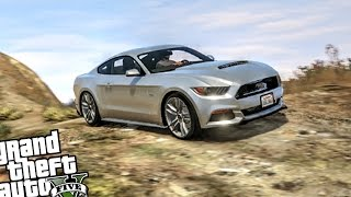 Ford Mustang GT 2015 - GTA 5 PC CRASH TESTING