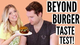 BEYOND BURGER TASTE TEST! The Vegan Burger That Tastes Like Meat!