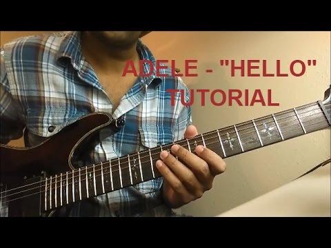 Adele Hello Electric Guitar Tabs Tutorial Youtube