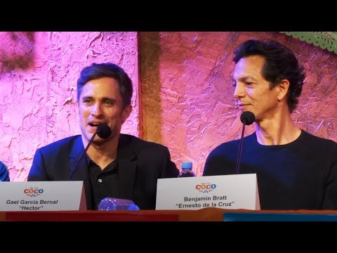 "Disney-Pixar's ""Coco"" press conference with Gael Garcia Bernal, Benjamin Bratt, Edward James Olmos"