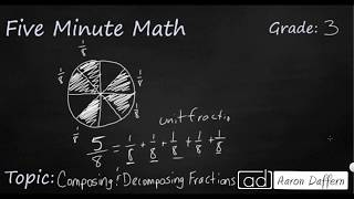 3rd Grade Math Composing and Decomposing Fractions