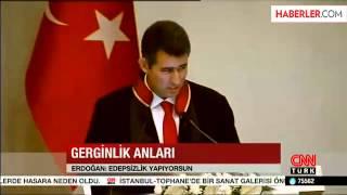 Erdoğan, Barolar Birliği Başkanı'na Kızıp Salonu Terk Etti