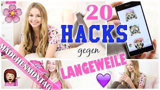 20 HACKS gegen LANGEWEILE in den OSTERFERIEN | PERFEKTES SELFIE, SPORT & MOTIVATION | MädchenMontag