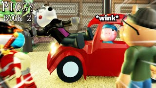 ROBLOX PIGGY RP FILM: WILLOW GETS run over by a car??