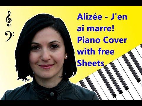 Alizée  Jen ai marre !  Piano  & Free download sheets  Roland HP305, Mixcraft