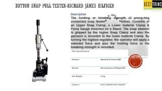 Button Snap Pull Tester Richard James Hilfiger Bangladesh