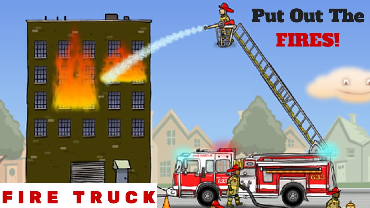 Fire truck video for children l put out the fires youtube - How to put out a fireplace ...