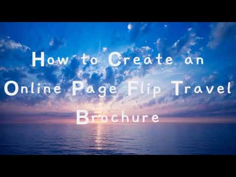 How to Create an online Page Flip Travel Brochure