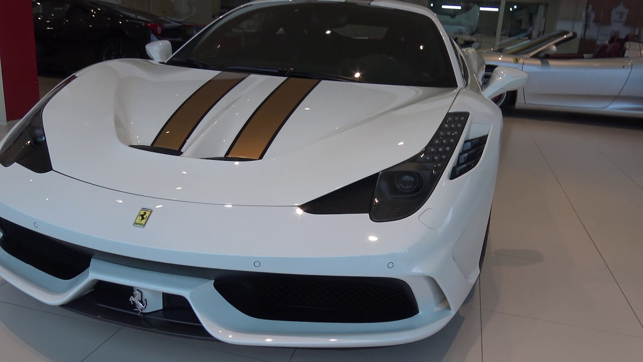 4k Ferrari 458 Speciale White Gold And 488 Spider In Belgium Youtube