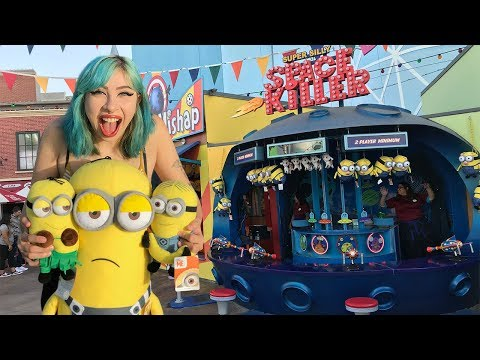 Minion Carnival Game Wins At Universal Studios Hollywood
