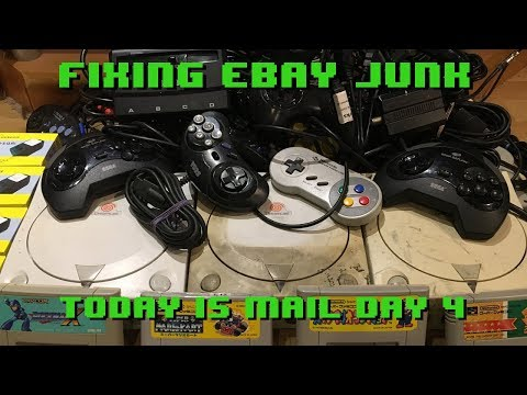 Fixing eBay Junk - It's Mail Day 4 - Crusty Dreamcast, SFC Games, Sega Controllers & More.