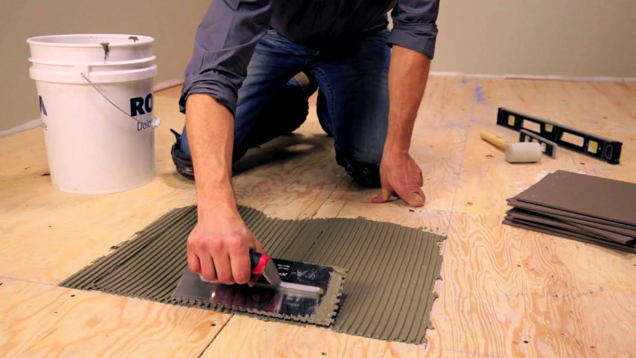 rona how to lay floor tiles