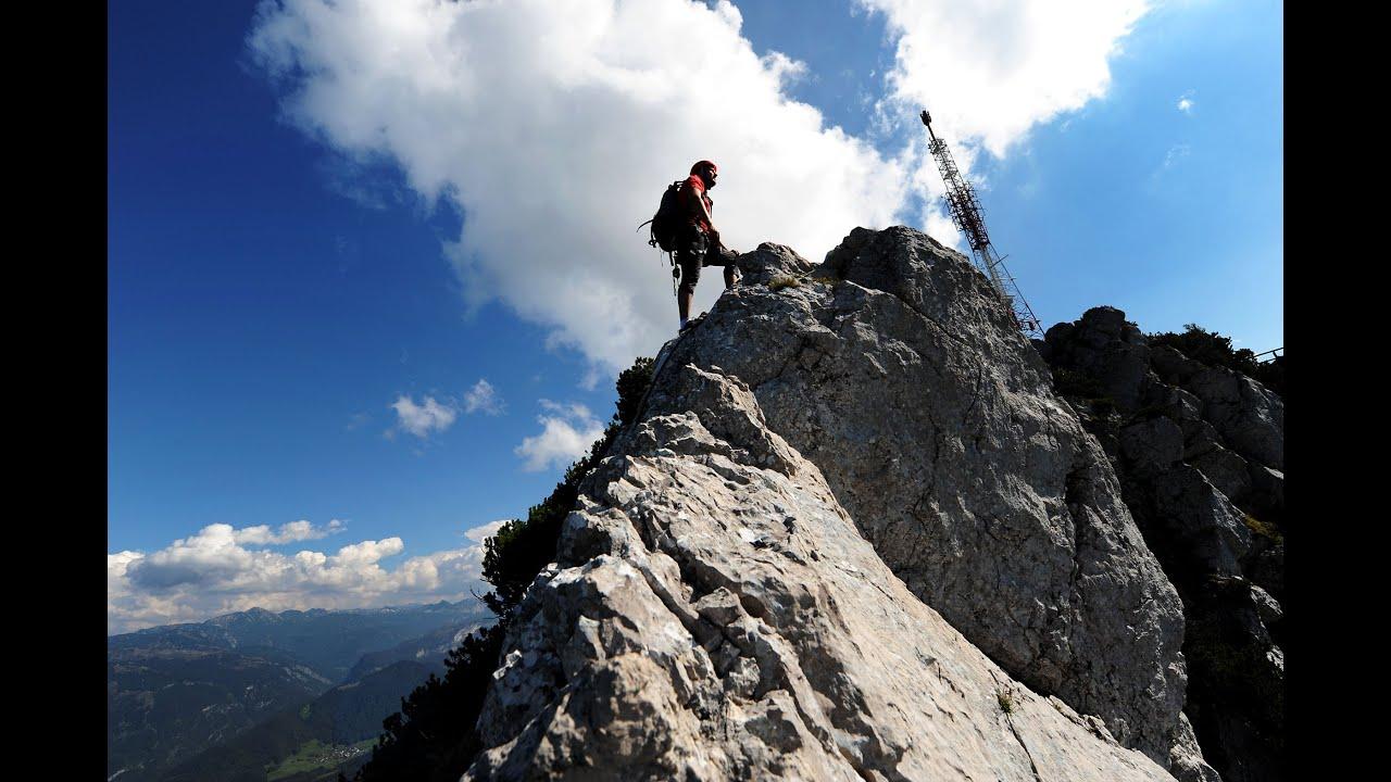 Klettersteig Katrin : Katrin klettersteig bad ischl oskar neubauer hero 2 youtube