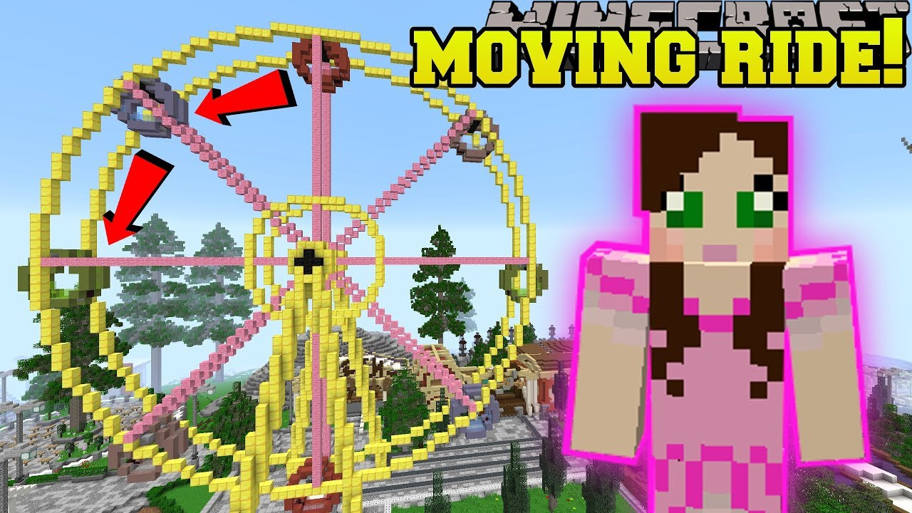 Minecraft: MOVING FERRIS WHEEL RIDE!!! - HERO FAIR [2 ...  Minecraft: MOVI...