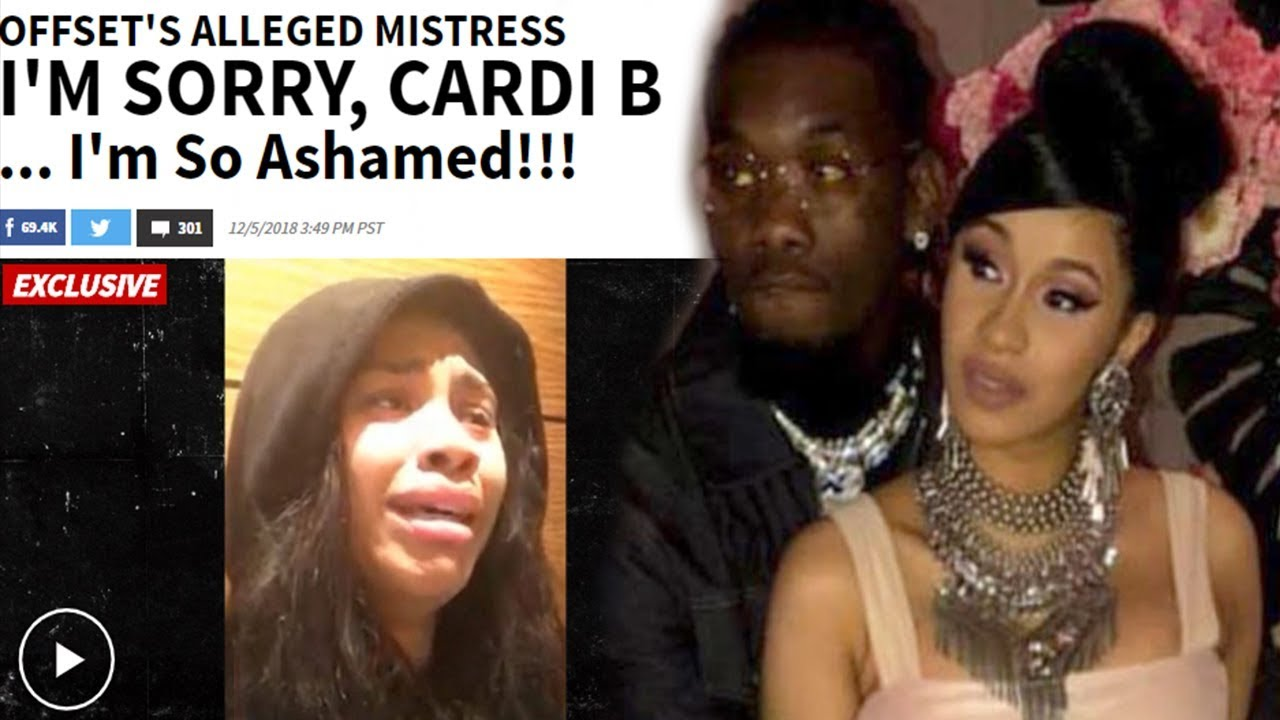 Nique at Nite: Offset Mistress comes forward and cries for breaking up home