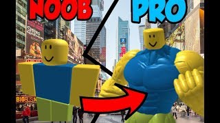 NOOB LEVEL 1 BECOMES LEVEL 1000 PRO AT ROBLOX FLEXING