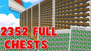 HOW MUCH WOULD 2,532 MINECRAFT DOUBLE CHESTS FULL OF LOOT SELL FOR?! ( Minecraft Skyblock )