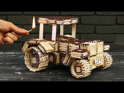 Thumbnail: How to Make Tractor John Deere from Matches Without Glue