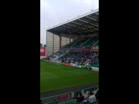 Birmingham city fans at easter road