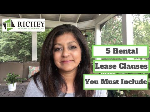 Landlord Tenant Lease Agreement Essentials - 5 KEY LEASE CLAUSES You Must Include!