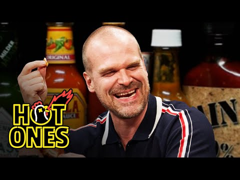 David Harbour Feels Out of Control While Eating Spicy Wings | Hot Ones