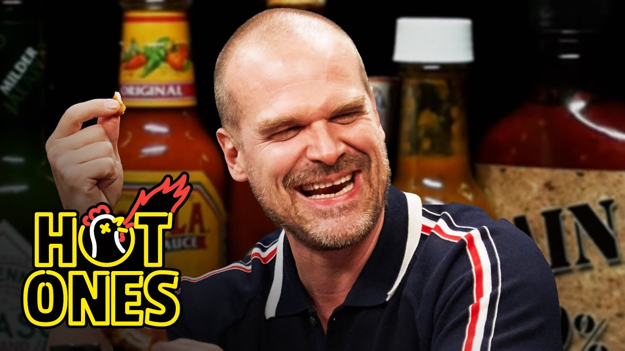 Download David Harbour Feels Out of Control While Eating Spicy Wings | Hot Ones