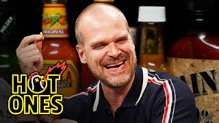David Harbour Feels Out of Control While Eating Spicy Wings