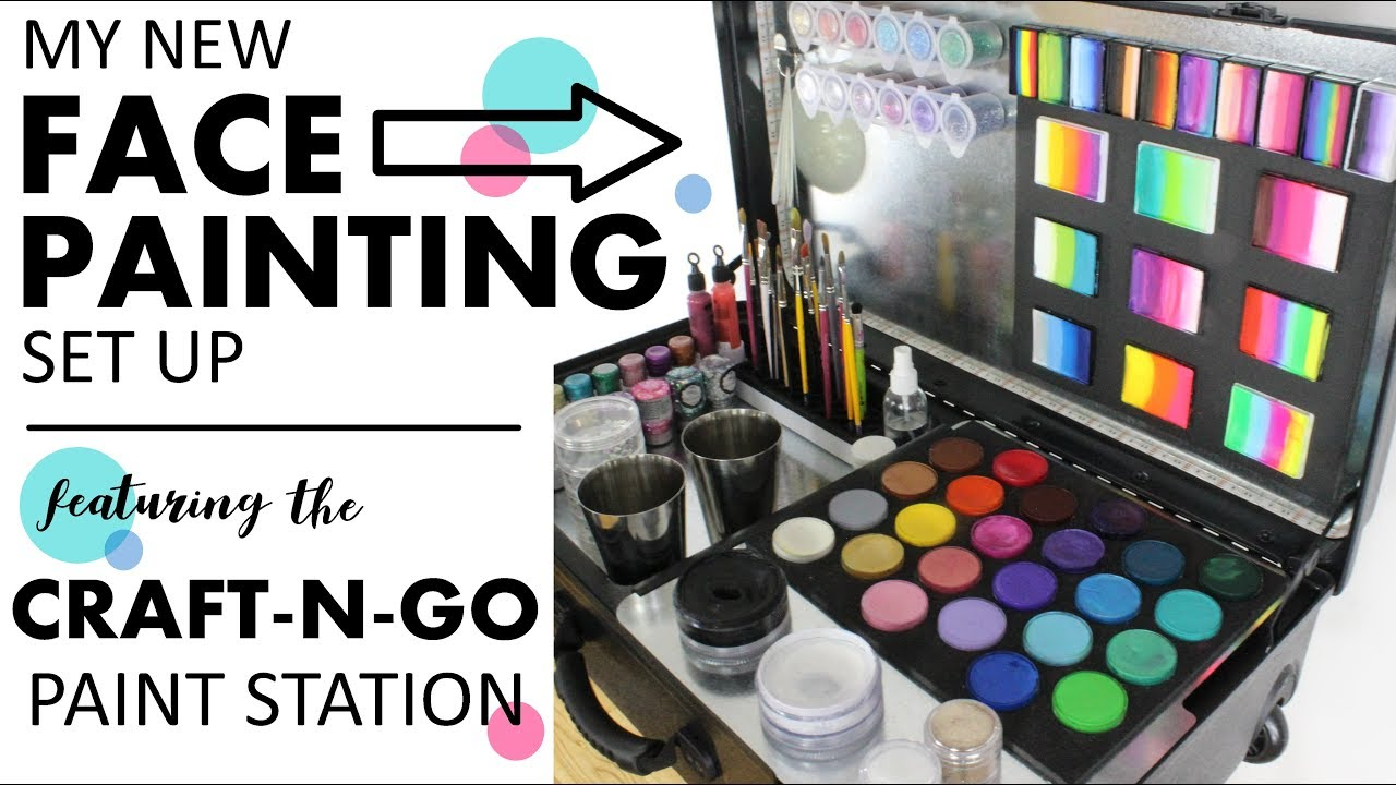 Craft N Go Face Painting Kit Review Demo Youtube