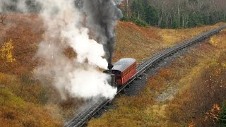 Steam On The Mount Washington Cog Railway 17th October 2014