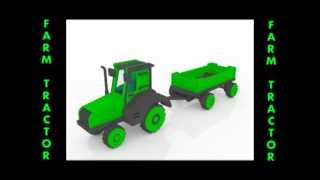 Farm Tractor Wood Toy Pattern For Cnc Router Or Laser Cutter