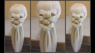 Необычное Красивое плетение волос,плетение 2х цветков из волос. Unusual Beautiful Hair Weaving