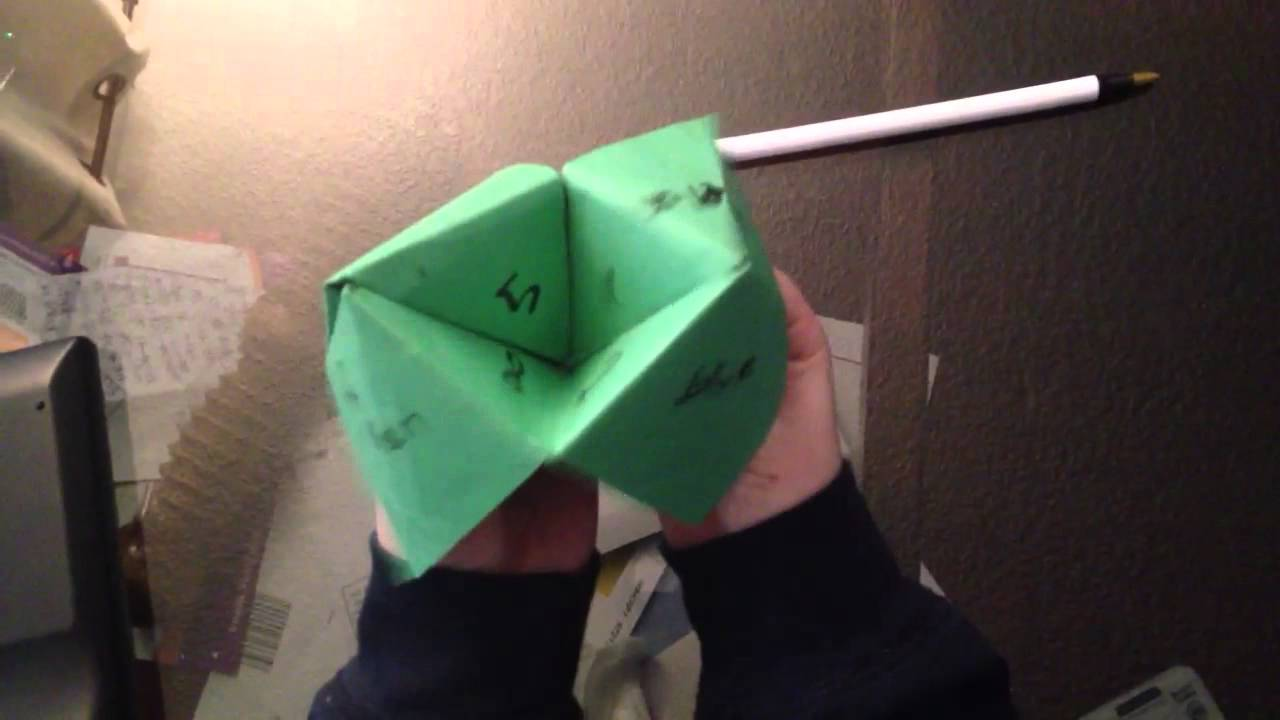 show me a video how to make a fortune teller