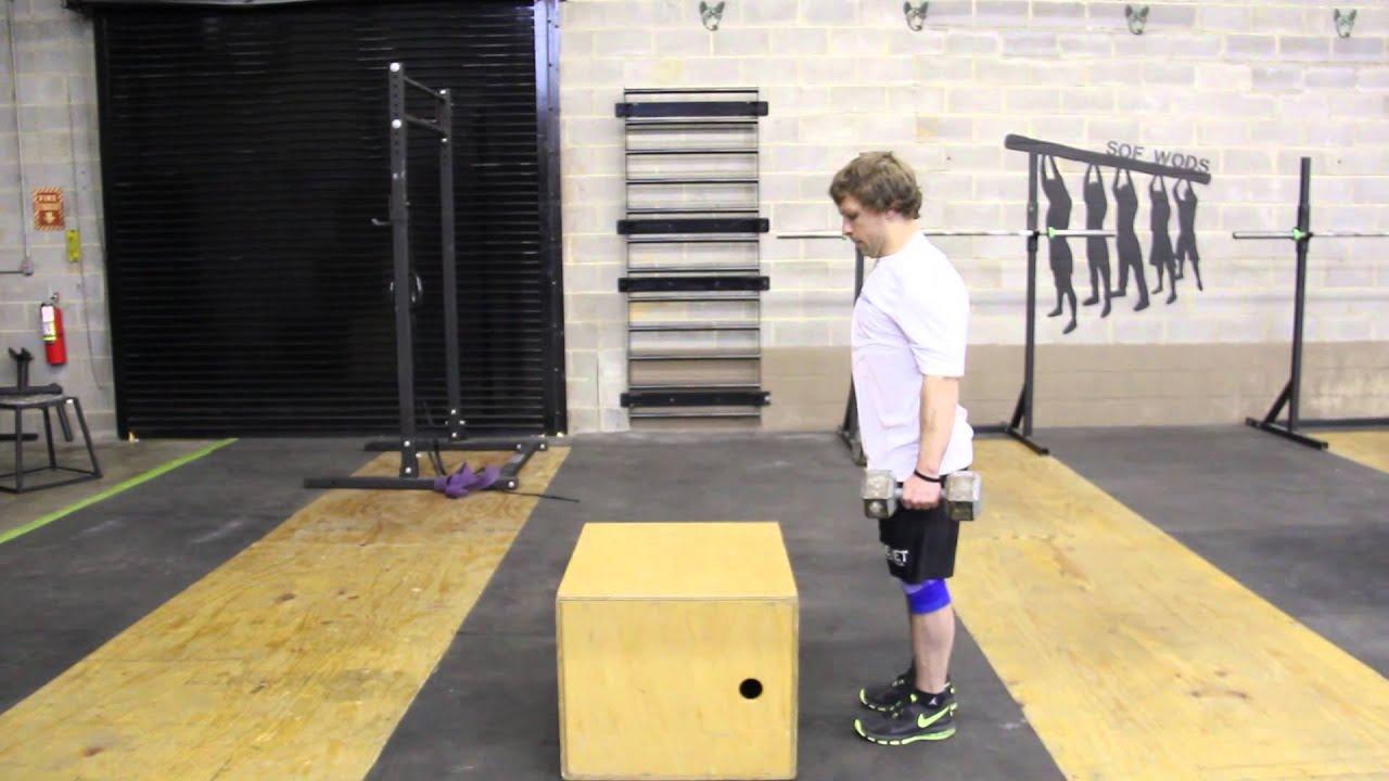 Box Step Ups (Above Knee Height) - YouTube