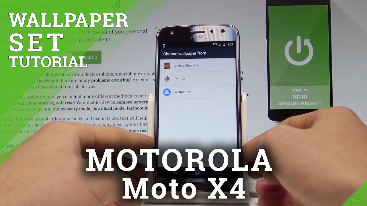 How to Change Wallpaper on MOTOROLA Moto X4 - Set Up Wallpaper |HardReset.Info