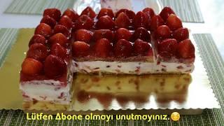 Çilekli Pasta Nasıl Yapılır?| Çilekli Labneli nefis bir tarif | Meyveli Pasta Tarifi