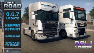 ON THE ROAD - Truck Simulator | 0.6.7 Update | myHermes PaketShop repaint | Maxed Settings