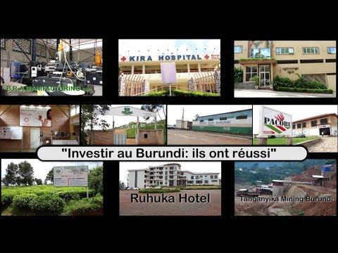 Investir au Burundi: Ils ont réussi!