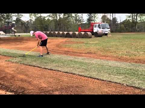 Mark McGraw Sod Roller Action at RiverTown Church March 2015