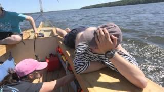 видео В поход на парусной лодке