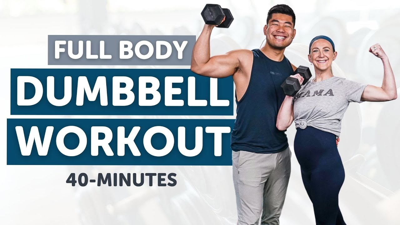 Download 40 Minute Full Body Strength and Cardio Dumbbell Workout!