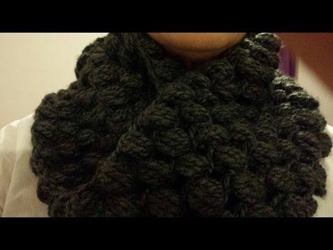 Cuello Circular a Crochet/ Punto Puf (Subtitulado Español) I Cucaditas de saluta