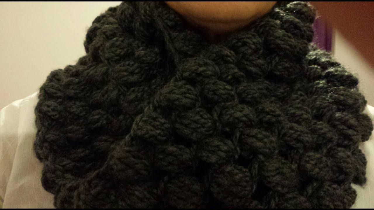Cuello Circular a Crochet/ Punto Puf (Subtitulado Español) I Cucaditas de saluta , YouTube