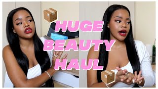 HUGE BEAUTY/MAKEUP HAUL | DISCHEM, CLICKS & TAKE-A-LOT | ESSENCE, REVLON & MAKEUP REVOLUTION