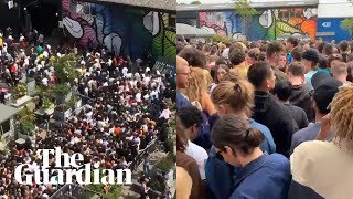 Scores of people turn up to watch Tyler, The Creator in London