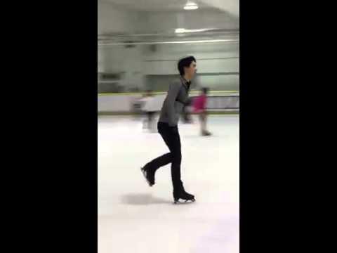 Yuzuru Hanyu, a public ice rink, Japan, september 2015