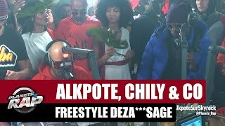 Alkpote, Chily & Co - Freestyle Deza***sage avec Luv Resval & Savage Toddy #PlanèteRap
