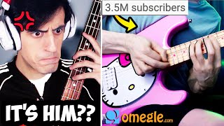 I FOUND HIM on Omegle.. (BASS vs GUITAR Epic Battle ft. TheDooo)