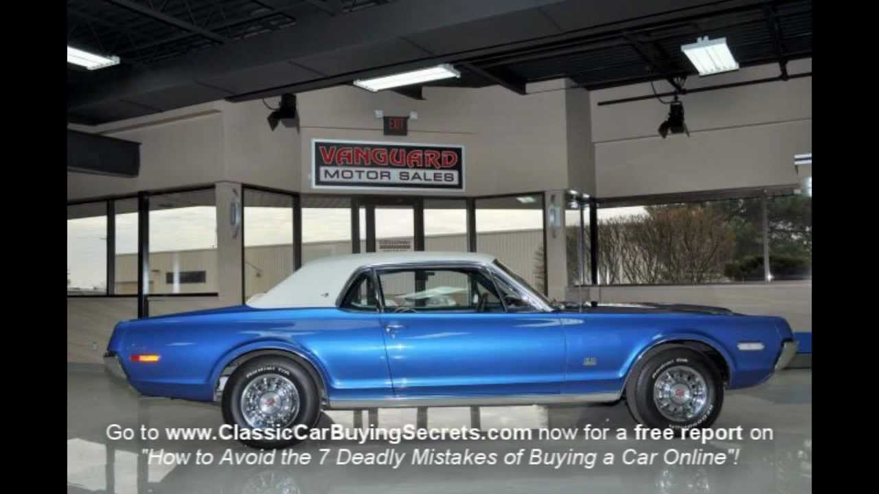 1968 Mercury Cougar XR7 Classic Muscle Car for Sale in MI Vanguard ...